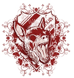 grunge t-shirt design with chihuahua vector image vector image