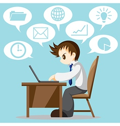 Hard Working vector image vector image