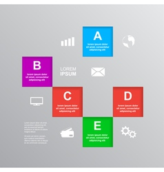 infographic template 2 vector image vector image