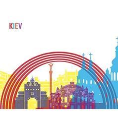 Kiev skyline pop vector image