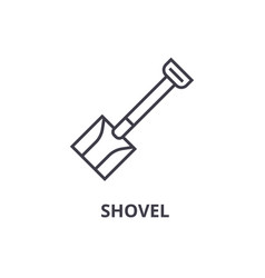 shovel line icon outline sign linear symbol vector image vector image