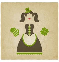 St Patricks Day girl vector image vector image