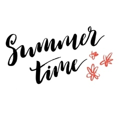 Summer time simple poster vector image