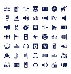 49 volume icons vector
