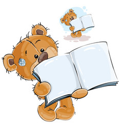 a brown teddy bear showing vector image