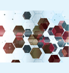 abstract background with technology shapes vector image