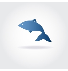 abstract blue fish vector image