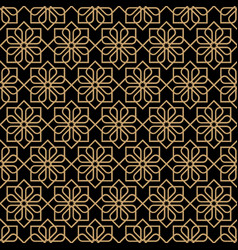 Abstract dark seamless flower pattern in oriental vector