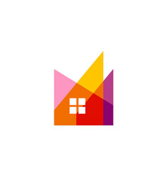 abstract home realty colored logo vector image