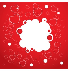 Abstract red background Heart Valentines day vector image