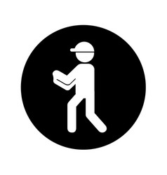 Airport worker silhouette icon vector