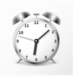 Alarm clock with bells ringing timer vector