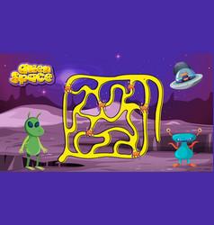Alien space game template vector