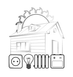 alternative energy for home vector image