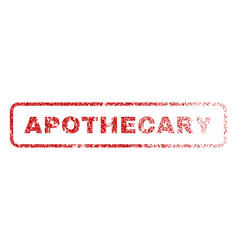 apothecary rubber stamp vector image