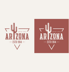Arizona state textured vintage t-shirt and vector