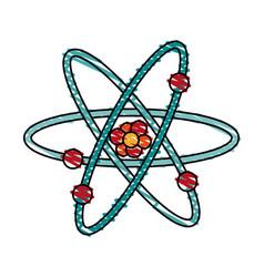 atom doodle vector image