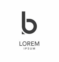 b letter logo icon vector image