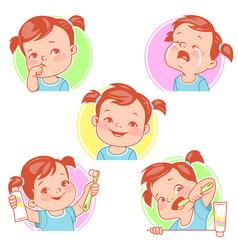 baby teeth set vector image