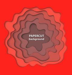 background with bright deep red color paper cut vector image
