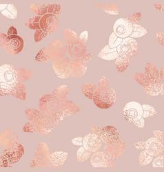 Berries rose gold elegant pattern vector