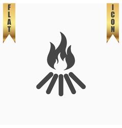 bonfire icon vector image