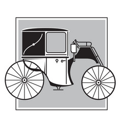 Brougham victorian carriage image vector