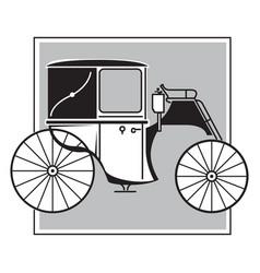 brougham victorian era carriage image vector image