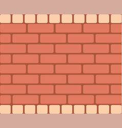 brown brick wall horizontal rectangular vector image