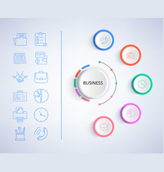 business infographic and icons vector image