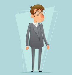 businessman icon retro cartoon design vector image