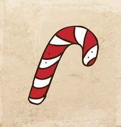 Candy Cane Cartoon vector image