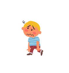 Cartoon character boy dizzy vector