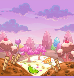 cartoon sweet landscape vector image