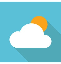 Cloud weather icon fla vector