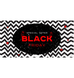 coll geometric poster for black friday sale vector image