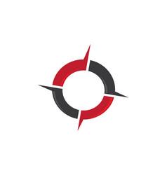 compass logo template icon design vector image vector image