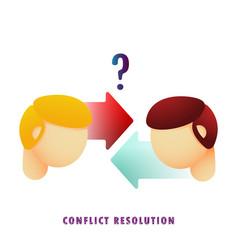 conflict resolution flat gradient vector image