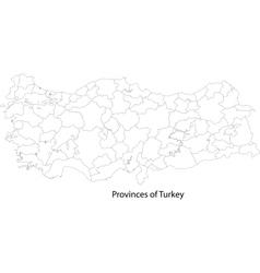 Contour Turkey map vector