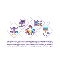Corporate social responsibility concept line vector
