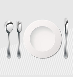Cutlery on the table vector