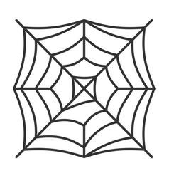 Editable stroke spider web thin line icon vector