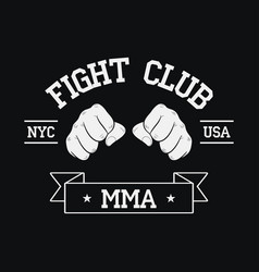 fight club logo nyc usa vector image