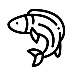 fish icon outline vector image