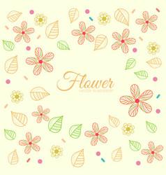 flower ornament backgroud concept vector image