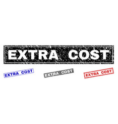 Grunge extra cost textured rectangle watermarks vector