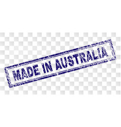 Grunge made in australia rectangle stamp vector