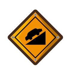 High decline traffic signal vector