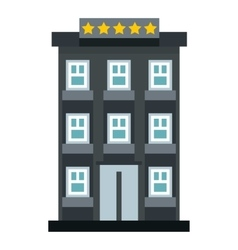 Hotel icon flat style vector