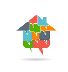 House with dialog boxes vector